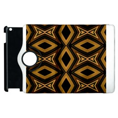 Tribal Diamonds Pattern Brown Colors Abstract Design Apple Ipad 3/4 Flip 360 Case by dflcprints