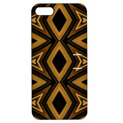 Tribal Diamonds Pattern Brown Colors Abstract Design Apple Iphone 5 Hardshell Case With Stand by dflcprints
