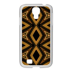 Tribal Diamonds Pattern Brown Colors Abstract Design Samsung Galaxy S4 I9500/ I9505 Case (white) by dflcprints