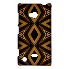 Tribal Diamonds Pattern Brown Colors Abstract Design Nokia Lumia 720 Hardshell Case by dflcprints