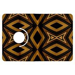 Tribal Diamonds Pattern Brown Colors Abstract Design Kindle Fire Hdx 7  Flip 360 Case by dflcprints
