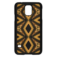 Tribal Diamonds Pattern Brown Colors Abstract Design Samsung Galaxy S5 Case (black) by dflcprints