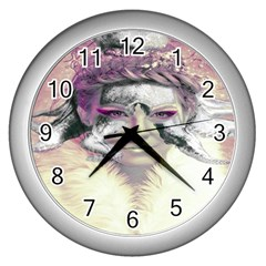 Tentacles Of Pain Wall Clock (silver) by FunWithFibro