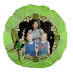 Green Leaf Pattern 18  Premium Round Cushion - Large 18  Premium Round Cushion