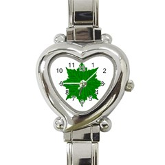 Decorative Ornament Isolated Plants Heart Italian Charm Watch  by dflcprints