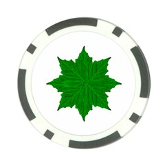 Decorative Ornament Isolated Plants Poker Chip by dflcprints