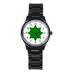 Decorative Ornament Isolated Plants Sport Metal Watch (black) by dflcprints