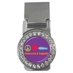 Peace Love & Zeppelin Money Clip (cz) by SaraThePixelPixie