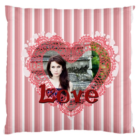 Love By Joely   Large Cushion Case (one Side)   61sxbkydanj8   Www Artscow Com Front