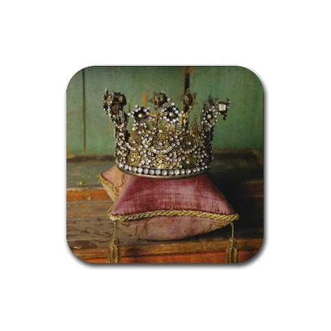 Crown/pillow Coasters By Katrina   Rubber Square Coaster (4 Pack)   Db1ge7ny514t   Www Artscow Com Front