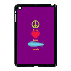 Peace Love & Zeppelin Apple Ipad Mini Case (black) by SaraThePixelPixie