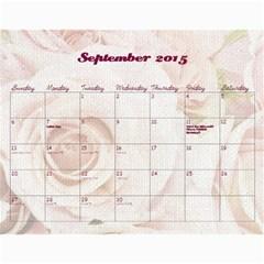 Chava Anniversary By Chava Landau   Wall Calendar 11  X 8 5  (18 Months)   3dwr0u8i1779   Www Artscow Com Sep 2015