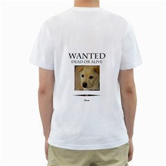 Pet By Divad Brown   Men s T Shirt (white) (two Sided)   71rcu8cofk5a   Www Artscow Com Back