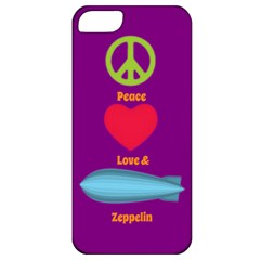 Peace Love & Zeppelin Apple Iphone 5 Classic Hardshell Case by SaraThePixelPixie