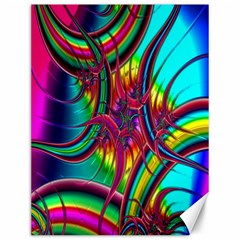 Abstract Neon Fractal Rainbows Canvas 12  X 16  (unframed) by StuffOrSomething