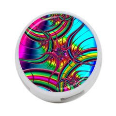 Abstract Neon Fractal Rainbows 4 Port Usb Hub (two Sides) by StuffOrSomething