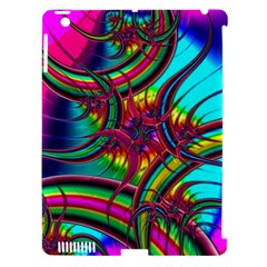 Abstract Neon Fractal Rainbows Apple Ipad 3/4 Hardshell Case (compatible With Smart Cover) by StuffOrSomething