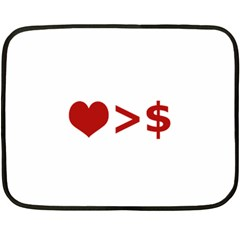 Love Is More Than Money Mini Fleece Blanket (two Sided) by dflcprints