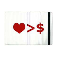 Love Is More Than Money Apple Ipad Mini Flip Case by dflcprints