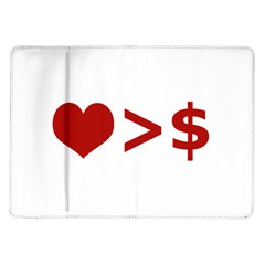 Love Is More Than Money Samsung Galaxy Tab 10 1  P7500 Flip Case by dflcprints