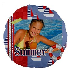 Summer By Summer Time    Large 18  Premium Round Cushion    Cyq6c1fuk9q1   Www Artscow Com Front