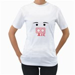 pig - Women s T-Shirt (White) (Two Sided)