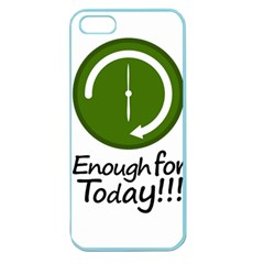 Work Schedule Concept Illustration Apple Seamless Iphone 5 Case (color) by dflcprints