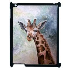Giraffe Apple Ipad 2 Case (black) by ArtByThree