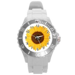 Sunflower Plastic Sport Watch (large) by sdunleveyartwork