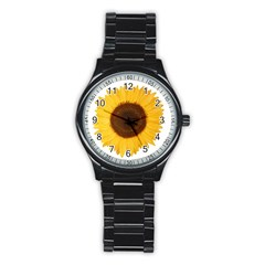 Sunflower Sport Metal Watch (black) by sdunleveyartwork