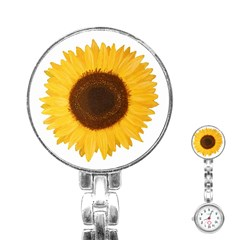 Sunflower Stainless Steel Nurses Watch by sdunleveyartwork