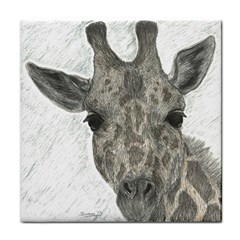 Giraffe Face Towel by sdunleveyartwork