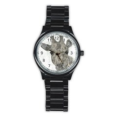Giraffe Sport Metal Watch (black) by sdunleveyartwork