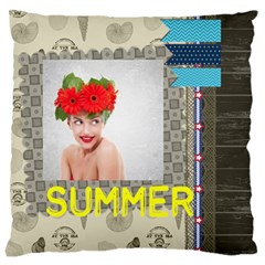 Summer By Summer Time    Large Cushion Case (two Sides)   7qbzfmshdbmb   Www Artscow Com Back