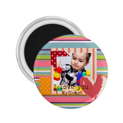 Kids By Kids   2 25  Magnet   8mhxcz3o55v1   Www Artscow Com Front
