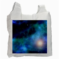 Amazing Universe White Reusable Bag (one Side) by StuffOrSomething