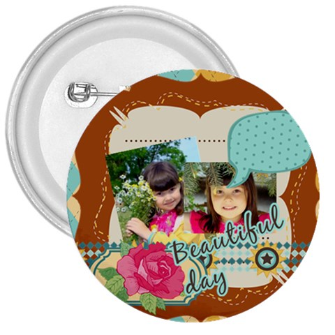 Kids By Kids   3  Button   Lvh0ldf0q8g7   Www Artscow Com Front