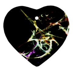 Futuristic Abstract Dance Shapes Artwork Heart Ornament by dflcprints