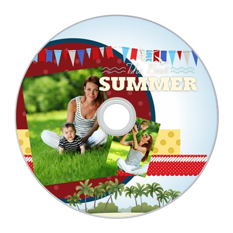 Summer By Summer Time    Cd Wall Clock   H5q7wvcae97q   Www Artscow Com Front