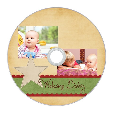 Baby By Baby   Cd Wall Clock   Cst4newmzf6m   Www Artscow Com Front