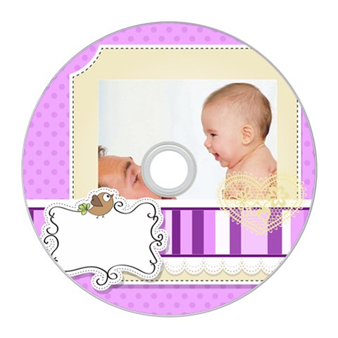 Baby By Baby   Cd Wall Clock   Lk27m1zbgc97   Www Artscow Com Front