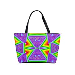 Trippy Rainbow Triangles Large Shoulder Bag by SaraThePixelPixie