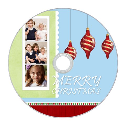Merry Christmas By Joely   Cd Wall Clock   Gbv4q0x3xnlx   Www Artscow Com Front