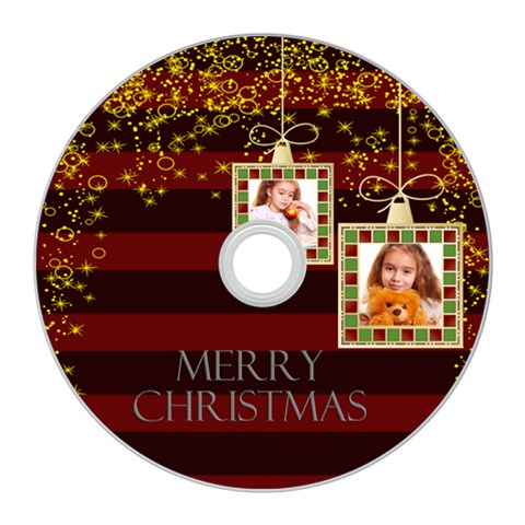 Merry Christmas By Joely   Cd Wall Clock   Fa9uw465dnmy   Www Artscow Com Front