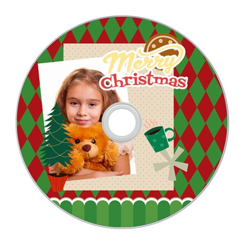 Merry Christmas By Joely   Cd Wall Clock   E65bo5jz2006   Www Artscow Com Front