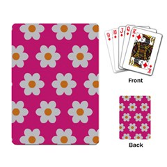 Daisies Playing Cards Single Design by SkylineDesigns