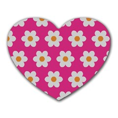 Daisies Mouse Pad (heart) by SkylineDesigns