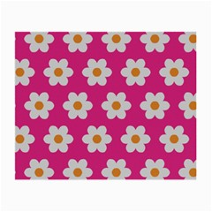 Daisies Glasses Cloth (small, Two Sided) by SkylineDesigns