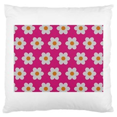 Daisies Large Cushion Case (two Sided)  by SkylineDesigns