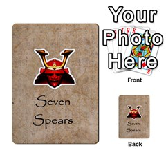 Seven Spears Eastern Daimyos Set By T Van Der Burgt   Multi Purpose Cards (rectangle)   Xun8oodww9r0   Www Artscow Com Front 7
